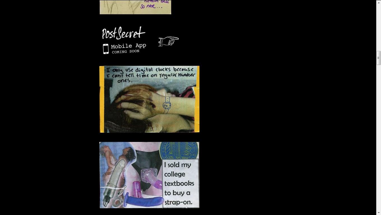 Post Secret Sample Postcards