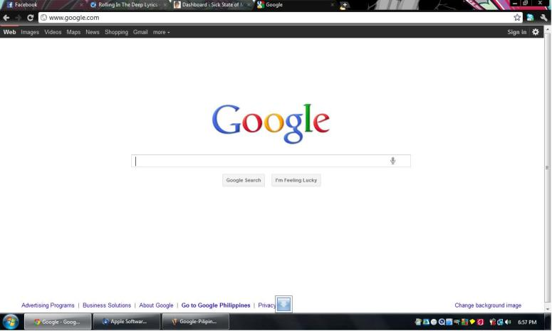 Google.com in English. Just click it.