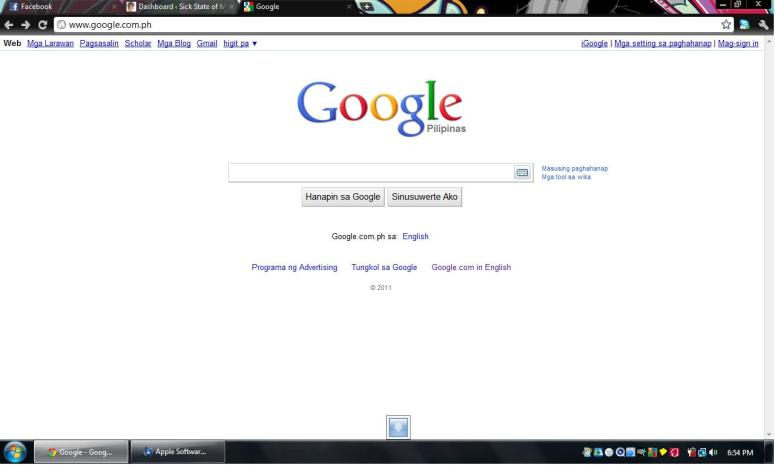 Google Pilipinas Home Page