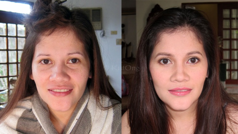 Tita Joy's before and after photo. :)