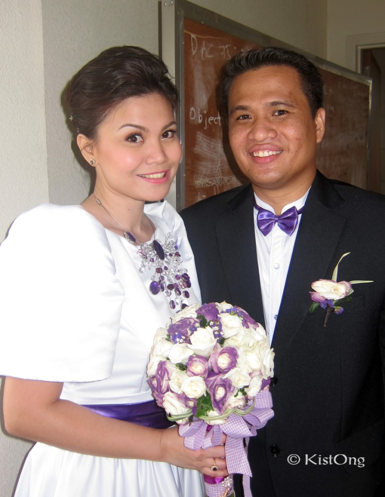 Sheila and Vice. The newlyweds. :D