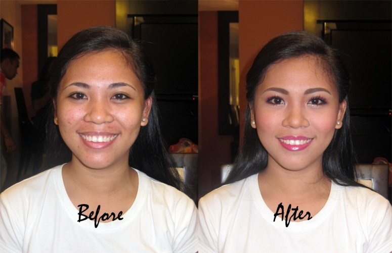 This is Sheryl's before and after photo. :)