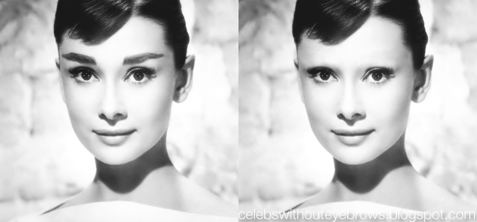 Audrey Hepburn without Eyebrows