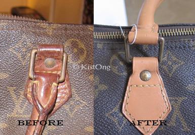 Before After Louis Vuitton Speedy Restoration on Ykk Zipper Repair Parts