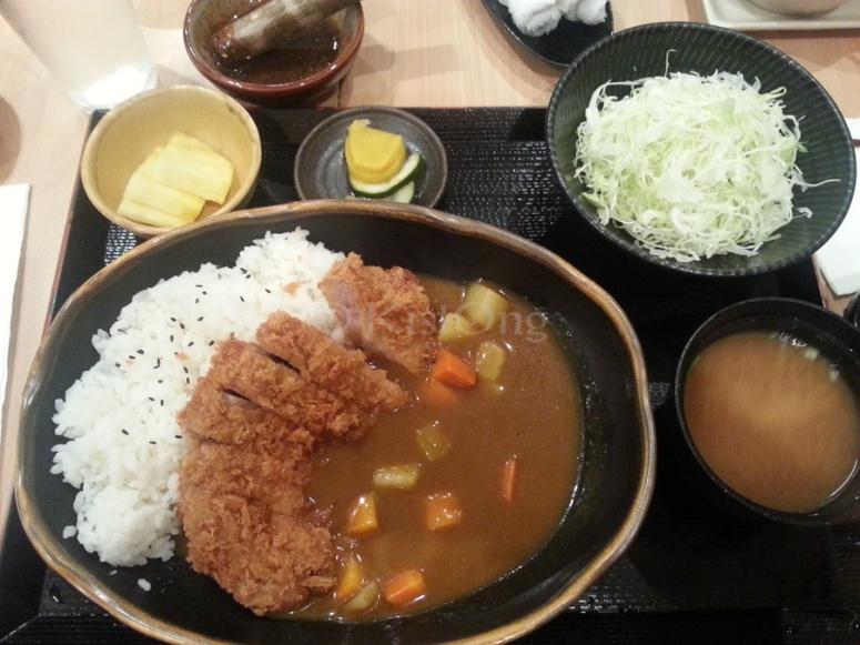 yabu Menchi Katsu Curry Set