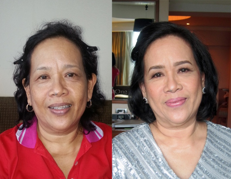 Groom's mom's before and after photo. =)