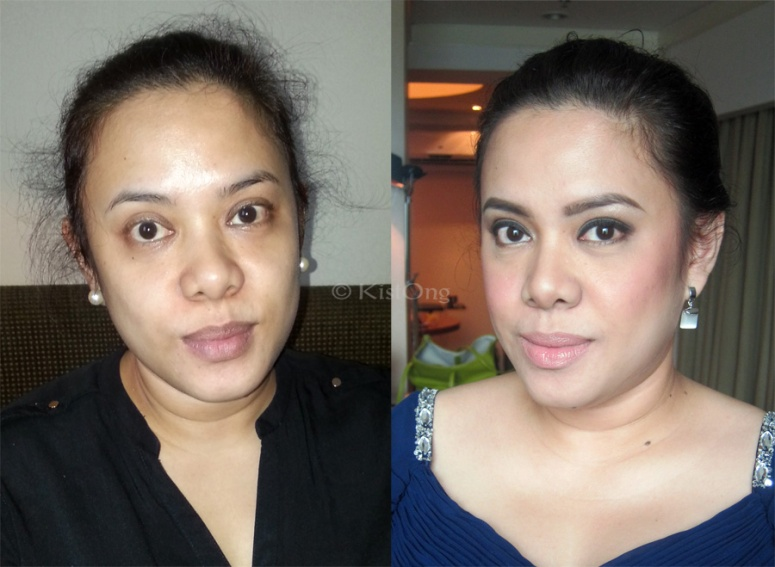 The groom's sister! Ate Arppie's before and after photo.
