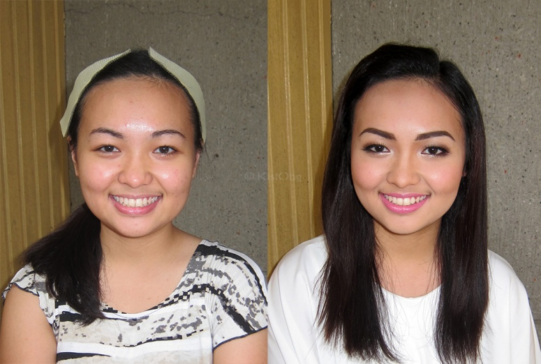 Inah's before and after graduation makeup!