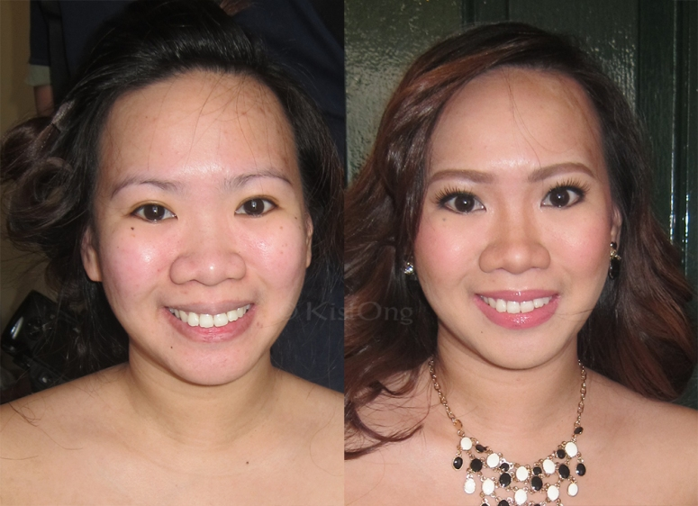 the groom's sister. Before and after makeup makeover