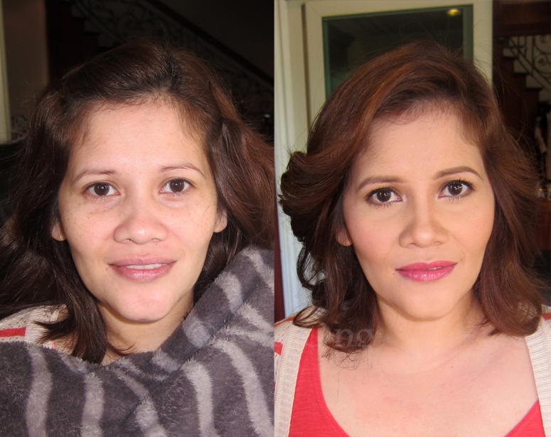 before and after makeup makeover  mandaluyong city