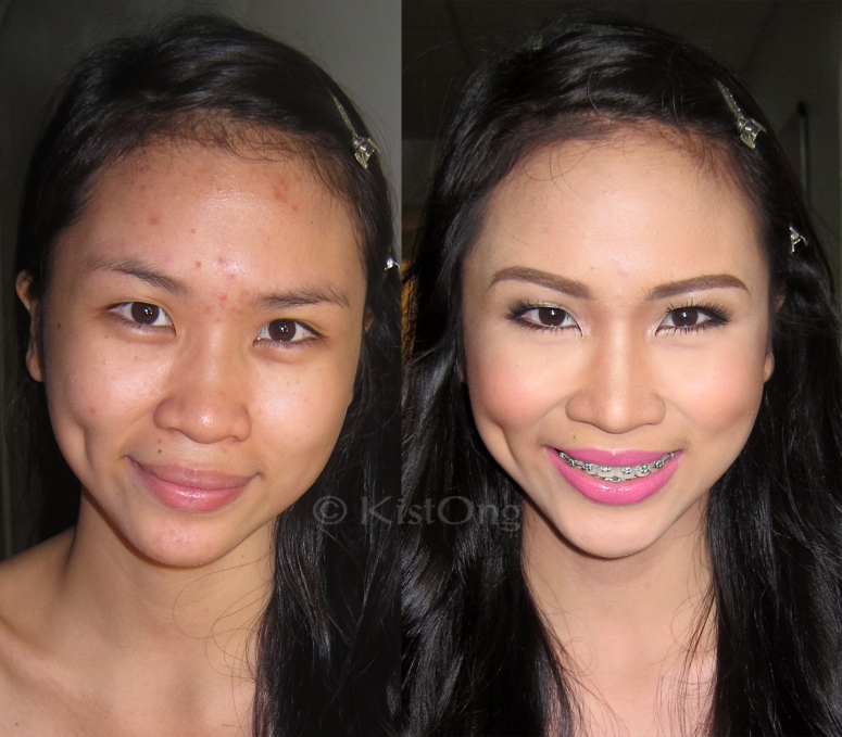 Justine's before and after photo - makeup artist in mandaluyong