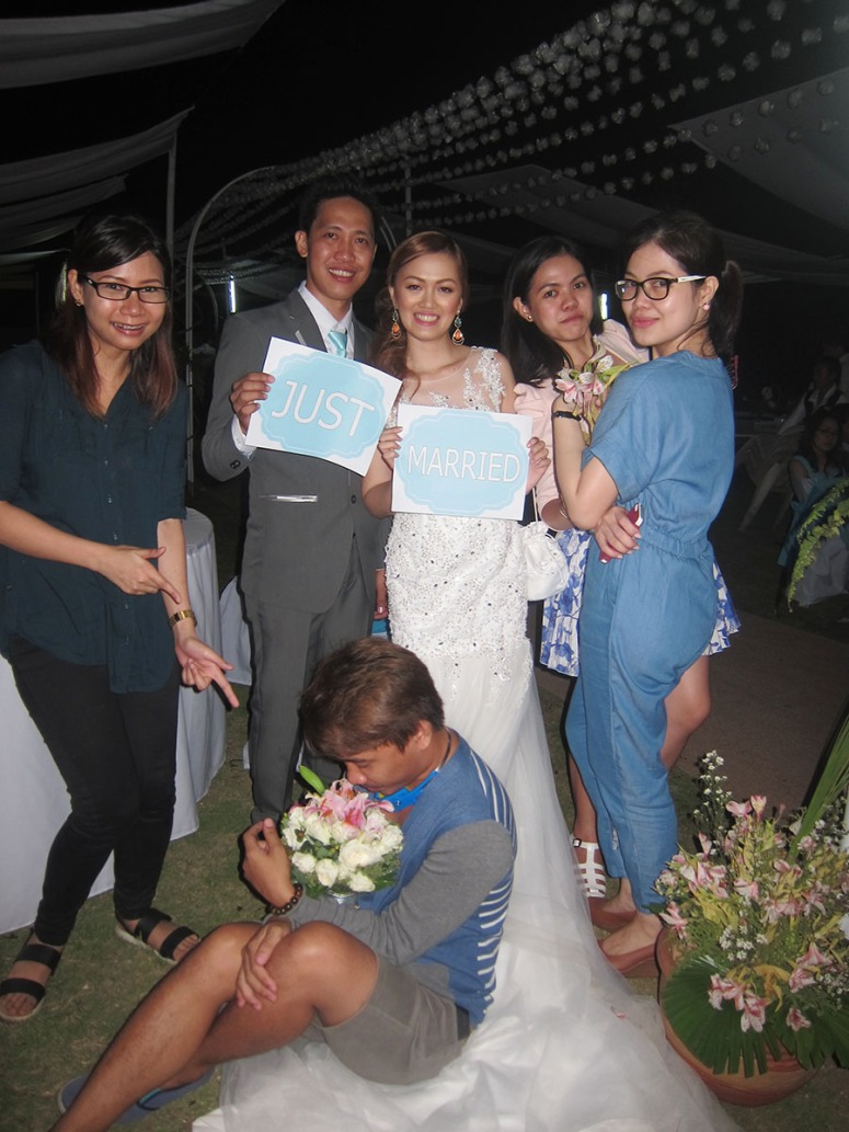 The Bride and Groom with the coordination and Glam team! <3
